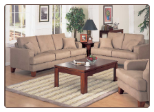 Transitional Living Room Set in Durable Peat Microfiber, 'Mai Tai' Collection by Homelegance.