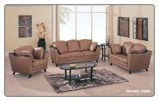 Global  -  Versatile Shaped Leather Upholstered Living Room Set.