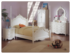 Pearl Twin Poster Bed Collection