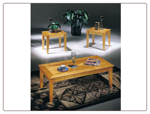 Sicily Maple 3pc Coffee/End Table Set
