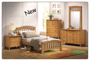 San Marino Maple Finish Full Bed Collection