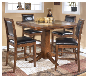 Croften  -  Marble Top Counter Height Table Set Signature Design by Ashley Furniture