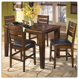 Larchmont  - Cozy Butterfly Leaf Pub Table Signature Design by Ashley Furniture