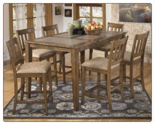 Signature Design Round Dining Room Table Set  D337-15
