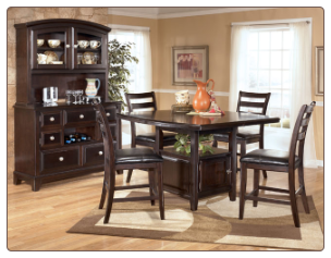Ridgley  - Dining Room Set with Counter Height Table Signature Design by Ashley Furniture