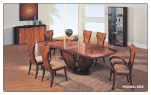 D52  -   Coffee and Dark Brown Color Finished Dining Room Set By Global Furnither USA