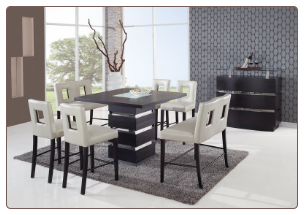 Dining Set Beige - Global Furniture