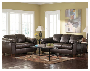 DuraBlend - Cafe Leather Leaving Room Set Signature Design by Ashley Furniture