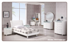 White Finished Kids Bedroom Set with Twin  Size Bed  By Global Furnither USA
