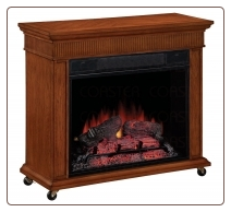 Electric fireplace w/ Casters