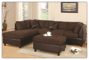 Poundex - F7615 -20 Microfiber - Sectional