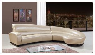 U958 Sectional Bonded Leather by Global Furniture USA
