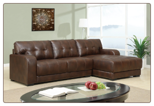 U11927 Global Furniture USA Brown Sectional