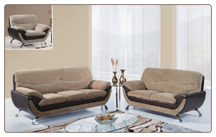 U4160 Global Furniture USA Champion Froth Sofa and Loveseat