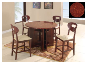 Marbled Top GL-7010 Bar Room Table Set By Global Furnither USA