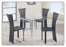 Chic Dinette with Square Table Intricately Designed Chairs Set by Global Furnither USA