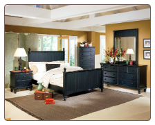 Traditional Classical Cottage Design Bedroom Set, 'Pottery' Collection by Homelegance