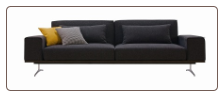 J & M Charcoal Grey Fabric K-56 Sofa Bed