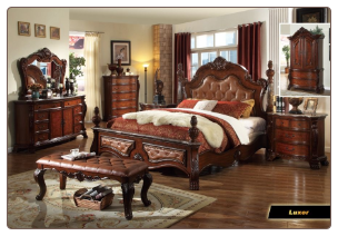 Luxor - Elegant Solid Wood Traditional Bedroom Set by Empire Furniture Design