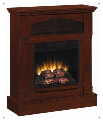 Mahogany Wall Mantel Electric Fireplace