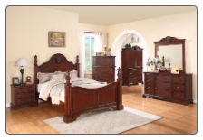 Manor - Elegant Solid Wood Traditional Bedroom Set by Empire Furniture Design