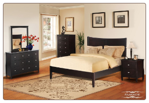 Parkside  - Transitional 6 PCS CompleteBedroom Set with Platform Bed in Rich Espresso Finish