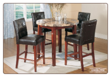 Faux-Marble Table - Counterheight Table  Dining Set