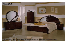PALOMA RADICA/MAHOGANY BEDROOM SET BY GLASS-FORM COLLECTION
