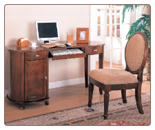 Riverland Kidney Shaped Single Pedestal Computer Desk by Coaster
