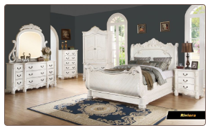 Riviera - Elegant Solid Wood Traditional Bedroom Set by Empire Furniture Design