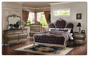 Roma - Elegant Solid Wood Traditional Bedroom Set by Empire Furniture Design