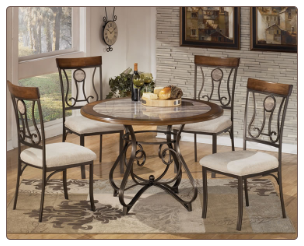 Signature Design 5 Pc. Dining Set D314-15-5PC Hopstand