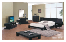 Soho -Queen Dark Brown Platform 'Soho' Bedroom Set by Global USA