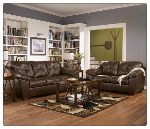 San Lucas - Harness  Leather Leaving Room Set Signature Design by Ashley Furniture