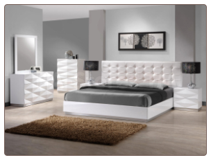 Verona Bedroom Set with Unique 3D Surfaces by J&M Furniture USA