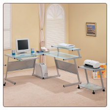 Wrightwood L-Shape Computer Desk by Coaster
