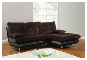 Two Tone Champion Chocolate 2 PC Sectional Sofa Set with Swivel Chair