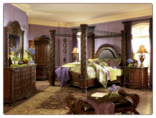 North Shore - King Canopy Bedroom Set Signature Design by Ashley Furniture