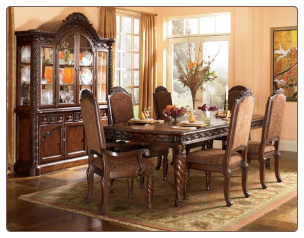 North Shore  - Rectangular Extension Table and Dining Arm Chairs / Dining Side Chairs Signature Design by Ashley Furniture
