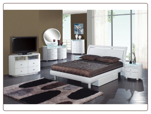 Global Furniture USA Master Bedroom Set EMILY-WHITE  Finish Contemporary Bedroom Set by Global Furnither USA (Queen)