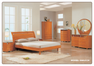 "Cherry Queen Bedroom Set ""EMILY"" By Global Furniture"