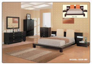 Queen Modern Bedroom Set with Platform Bed, 'G020' Collection by Global Furniture USA