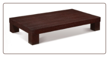 Wooden Rectangular Cocktail Table by Global USA