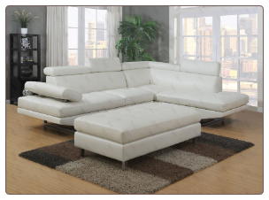 G147 Living Room Set  - GloryFurniture  WHITE