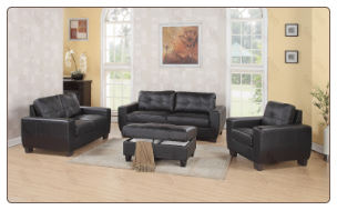 Glory G200-- Living Room Set- BLACK