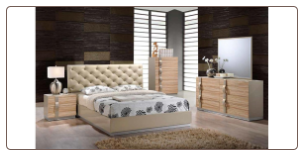 GRACE CHAMPAGNE BEDROOM SET 5PC GLOBAL FURNITURE