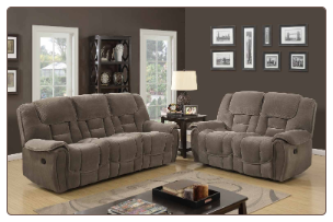 U101 Lisa Taupe-Fabric Living Room Set by Global