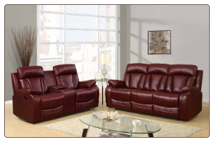 U97601 Reclining Living Room Set in Burgundy