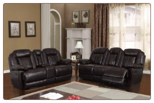 U8304 Reclining Living Room Set in Charcoal