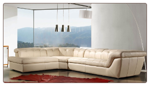 397  ITALIAN LEATHER SECTIONAL BY J&M FURNITURE USA